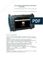 Navigation Voiture Pour Benz a-class W169 Avec GPS Radio TV Bluetooth