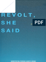Julia Kristeva Revolt She Said