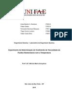 Relatório 2 - Determinação Da Viscosidade Em Fluidos Newtonianos (1)