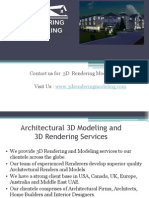 Avail high precision professional 3D Modeling Services and 3D Rendering Servicesering