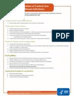 Checklist for CLABSI