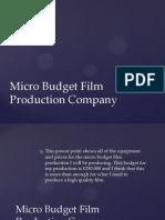 micro budget film production company presentation