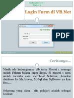 Vb.net 02-Form-Login Author Arief Susanto
