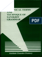 Technical Terms and Technique of Sanskrit Grammar (Kshitish Chandra Chatterji)