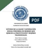 Estudio de La Salud y Satisfaccion Sexual Percibida en Mujeres Que Ejercen La Prostitucion y Mujeres Transexuales Patricia Mesas Carreño