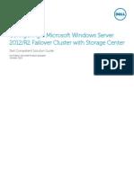 Configuring a Microsoft Windows Server 2012R2 Failover Cluster With Storage Center