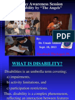 2. Presentation on Disability (Dr. Umair Ahmed)