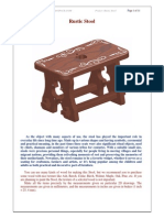 Rustic Stool Woodworking Plan