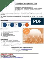 10 Year Testing of LPG Spherical Tank