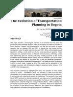 TheEvolutionOfTransportionPlanning in Bogota Ver ENG Stuttgart