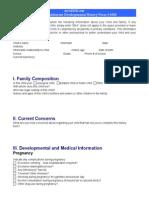 Child and Adolescent Developmental Histo - Desconocido