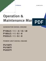 Operation and Maintenance Manual P158LE - P180LE - P222LE Daewoo, Doosan