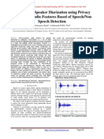 An Efficient Speaker Diarization using Privacy