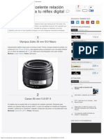 10 Objetivos de Excelente Relación Calidad-precio Para Tu Réflex Digital _ Quesa