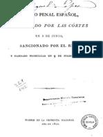 Codigo Penal Español de 1822