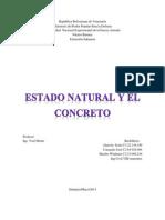 Estado Natural y Concreto