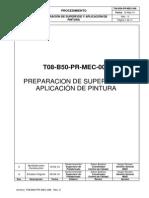 T08-B50-PR-MEC-006 RA Prep de Sup y Aplicación de Pintura