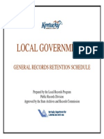LRecordsRetentionSchedule Local KY