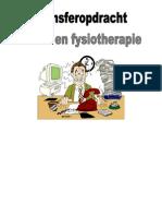 Transferopdracht arbeid en fysiotherapie