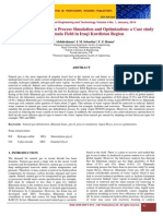 Natural Gas Dehydratation Process Simulation