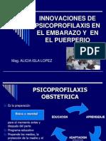 Inovaciones de Psicoprofilaxis en El Parto y Puerperio