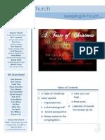 Newsletter - November 22, 2009