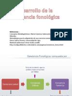 Metodología Para La Adquisición de Una Correcta Conciencia Fonológica