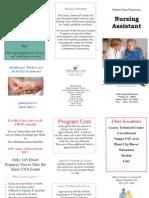 Nursing Assistant Brochure 2009