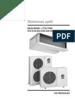 Fan&Coil SF y HP Especificaciones Español