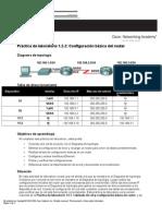 (288045221) Práctica de Laboratorio 1.5.2.1 Configuración Básica Del Router