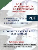 Lp. 2 Reguli de Conduită În Relațiile Profesionale (Viața Socială)