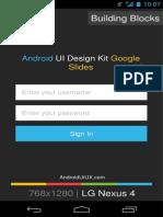 Android UI Design Kit for Google Slides 1.0