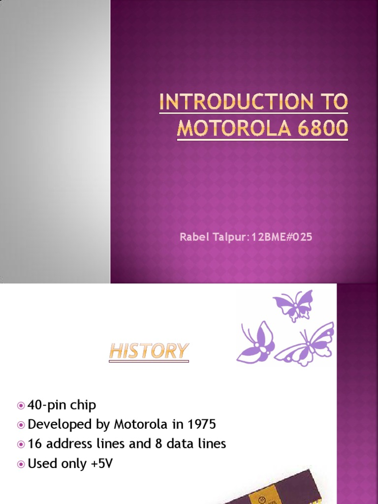 introduction to motorola 6800 | Instruction Set | Central Processing Unit