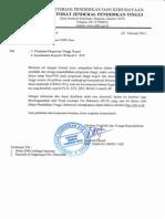 Surat Edaran Tes Tkda Dan Toep Untuk Ajuan Nidn Baru2