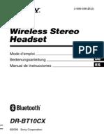 Auricular Sony Bluetooth