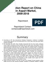 Investigation Report on China Insulin Aspart Market, 2009-2018