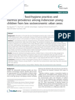Association of Food-hygiene Practices and Diarrhea Prevalence Among Indonesian Young Children From Low Socioeconomic Urban Areas