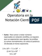 Operatoria en La Notación Científica