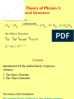 The Unified Theory of Physics 1