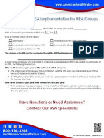 HSA Implementation for HRA Groups