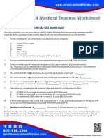 HSA Medical Expense Worksheet