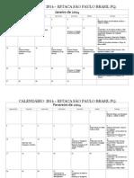 Calendário Da Estaca SP Pq. Pinheiros-2014