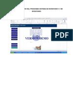 Manual de Usuario Del Programa Sistema de Inventario V