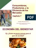 2.4 Consumidores, Productores y Eficiencia de Mercado