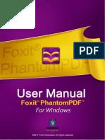 FoxitPhantomPDF50 Manual