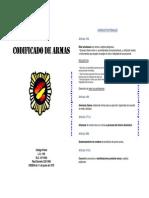 Codificado de Armas Sobre Situaciones Penales y Administrativas