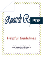 research report guidelines