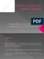 Attributional Models of Mental Illness