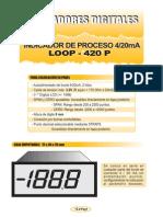 15b- Indicador 3´5 Digitos LCD. 4-20mA autoalimentado