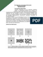 Clase Nº8 Imperfecciones de Los Sólidos Cristalinosss